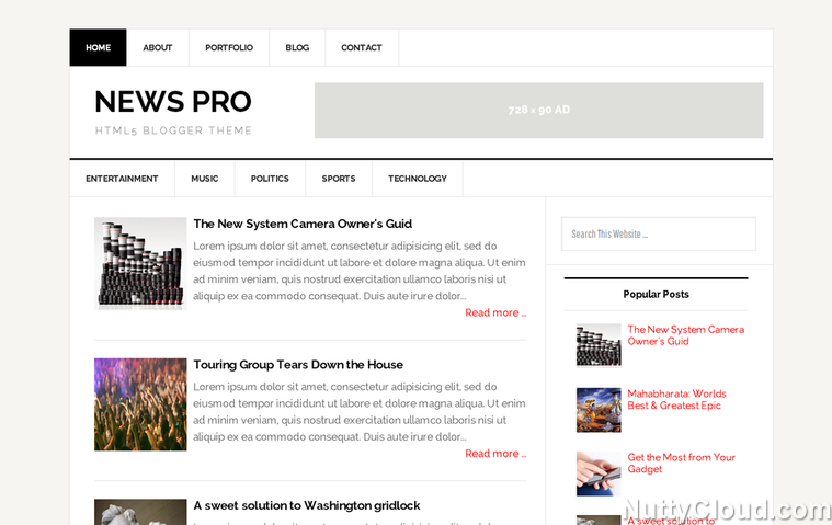 Free Best Seo Responsive Blogger Template Download News Pro
