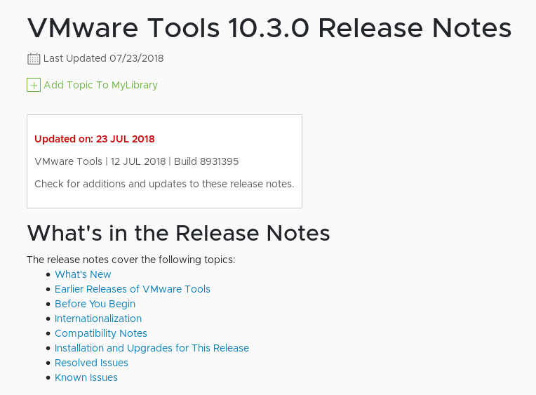 VMware Tools version 10 3 0 known issues - VMXNET3 is losing